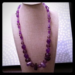 Chunky Purple Beaded Necklace